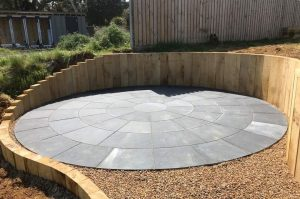 Circular Feature Patio Installer in Chobham